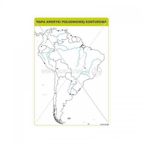 2916 Mapa Ameryki Polnocnej Konturowa Pomoce Szkolne