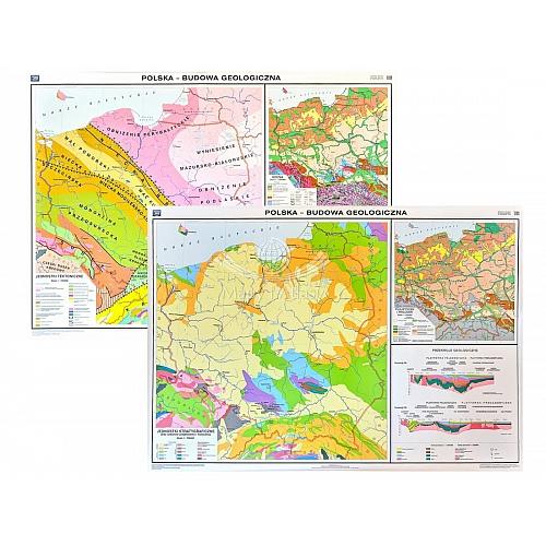 Mapa Tematyczna Polski Budowa Geologiczna Pomoce Szkolne