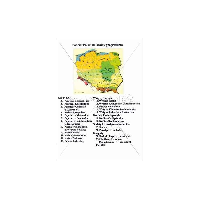 245 Polska Podział Na Krainy Geograficzne Wwwpomoceszkolne24pl