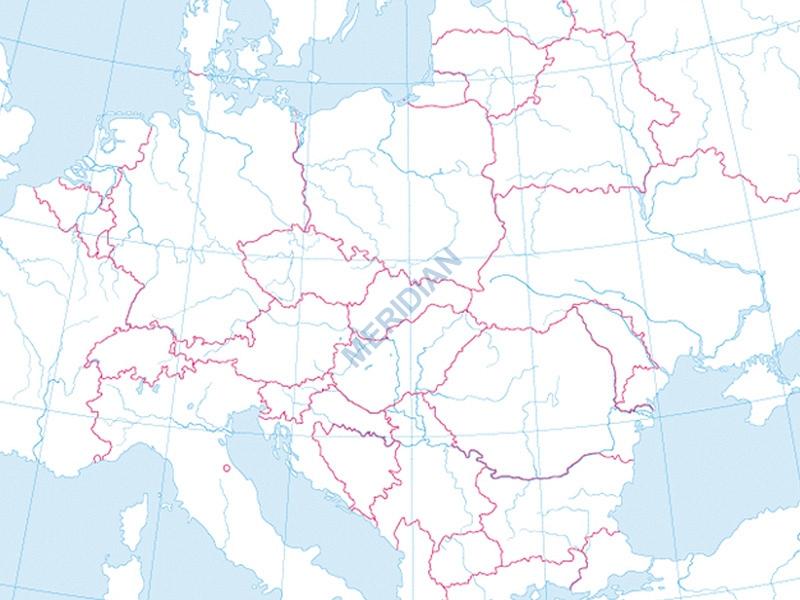 Mapa Konturowa Europy Wwwpomoceszkolne24pl